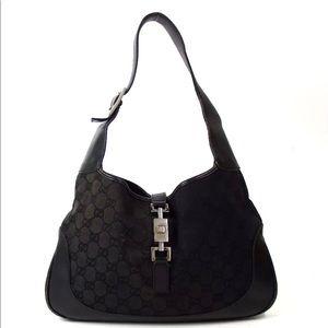 Auth Gucci GG Pattern Shoulder Bag #723G56